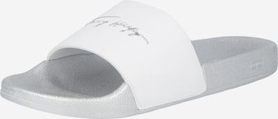 Saboți TOMMY HILFIGER pe argintiu / alb, Vizualizare produs
