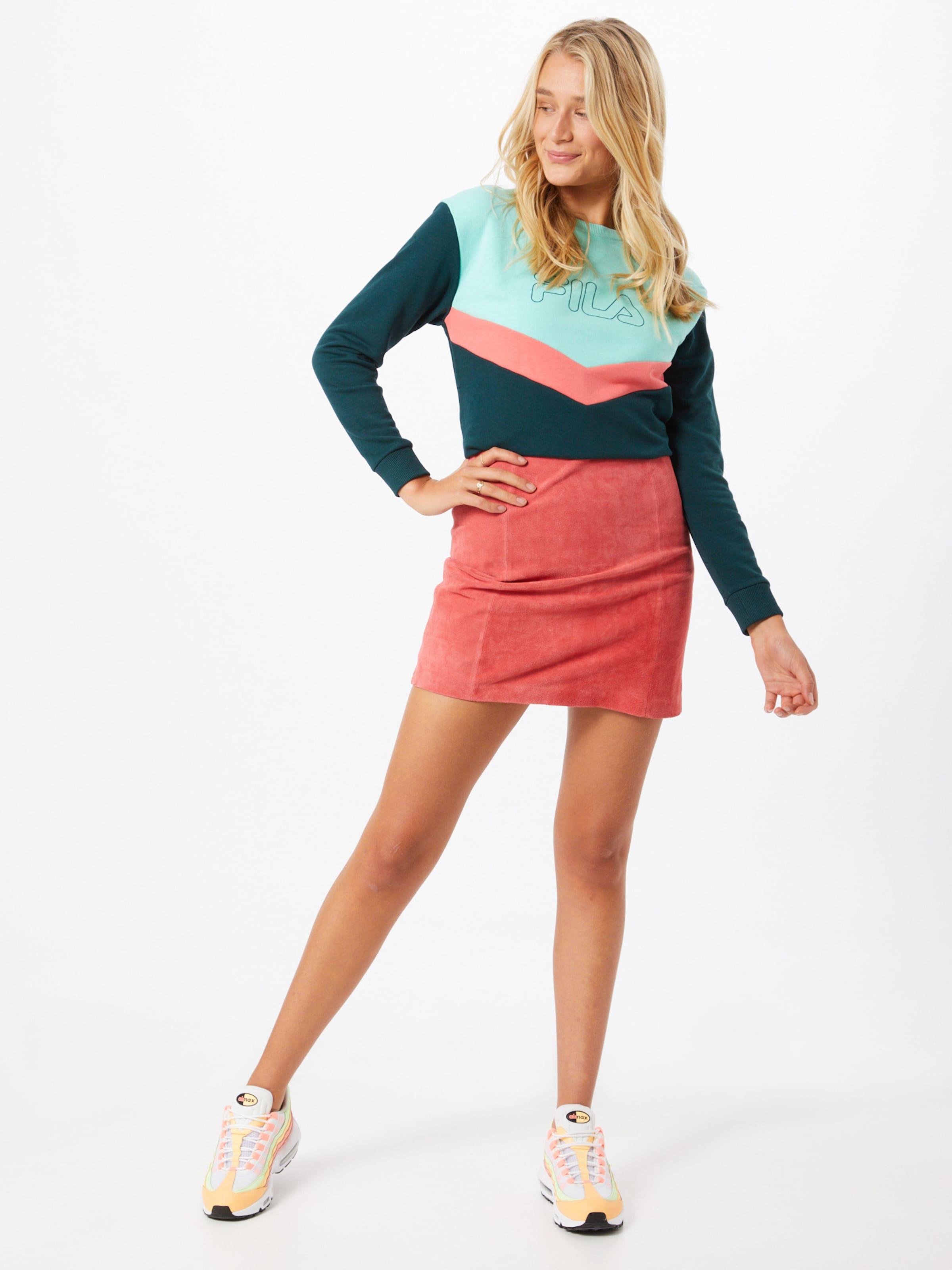 FILA Sport sweatshirt 'Ladina' i mint / mörkgrön / korall