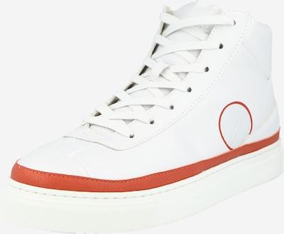 Komrads Baskets hautes en orange foncé / blanc, Vue avec produit