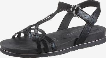 TAMARIS Strap sandal in Black