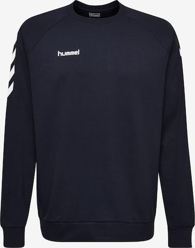 Hummel Sweatshirt in dunkelblau / weiß, Produktansicht