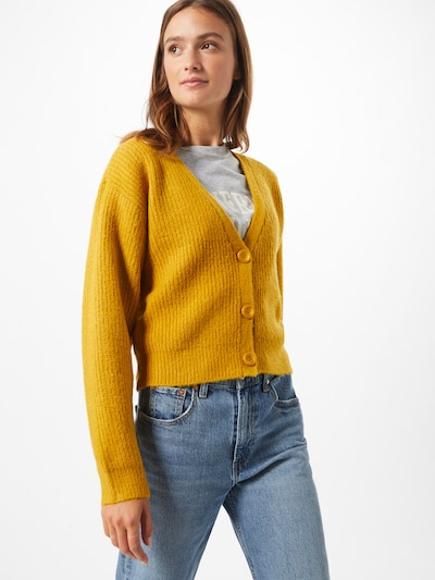 NA-KD Cardigan in goldgelb: Frontalansicht