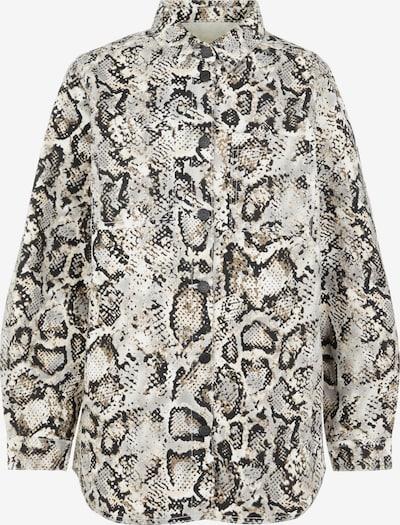 OBJECT Jacke 'New Owen' in grau / schwarz / weiß, Produktansicht
