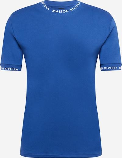 River Island T-Shirt 'MAISON' in royalblau / weiß, Produktansicht