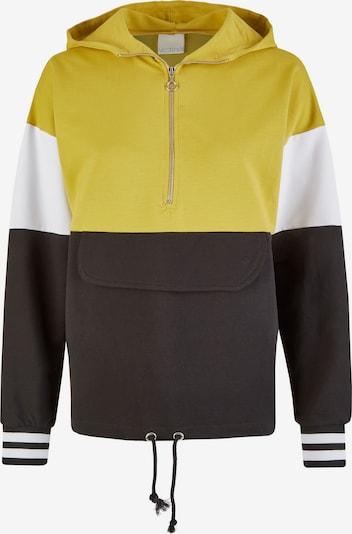 Vestino Pullover in gelb / schwarz / weiß, Produktansicht