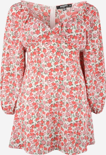 Missguided Plus Šaty - tmavozelená / oranžová / svetloružová / biela, Produkt