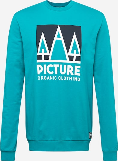 Picture Organic Clothing Sports sweatshirt in Jade / Black / White: Frontal view