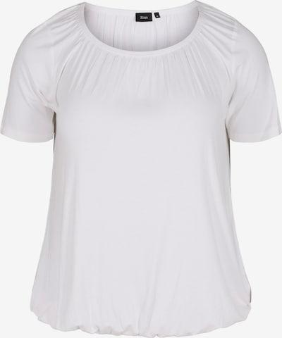 Zizzi T-shirt 'Mlivia' en blanc, Vue avec produit