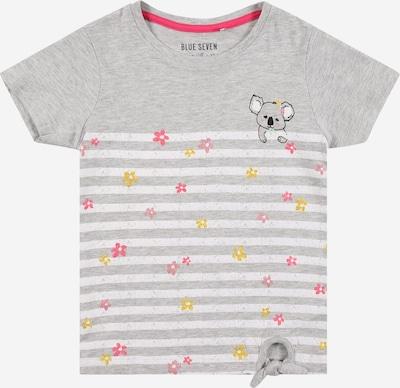 BLUE SEVEN T-Shirt in gelb / hellgrau / rosa / weiß, Produktansicht