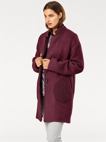 heine Between-Seasons Coat in Red