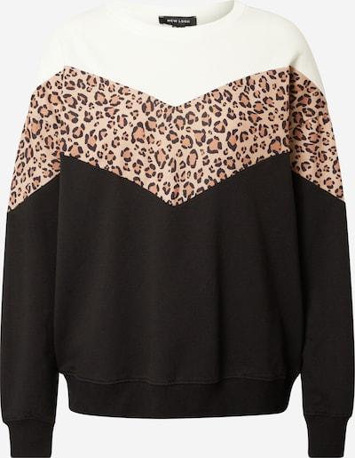 NEW LOOK Sweat-shirt en beige clair / marron / noir / blanc, Vue avec produit
