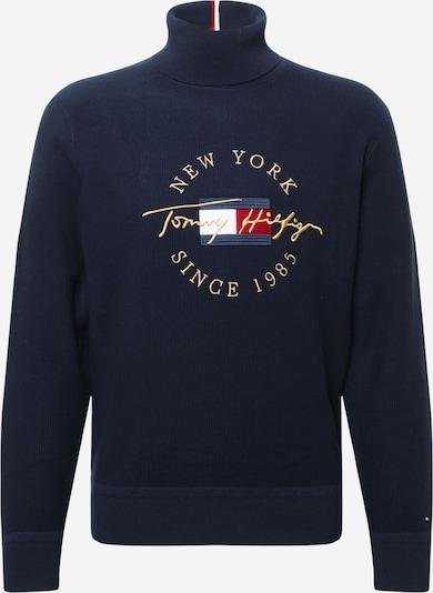 TOMMY HILFIGER Pullover en navy / gold / rot / weiß, Vue avec produit