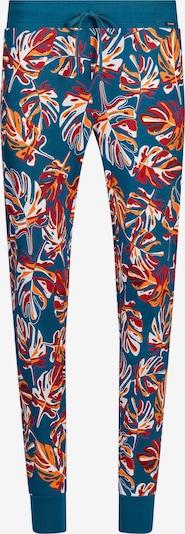 Skiny Панталон пижама в синьо / златистожълто / червено / тъмночервено, Преглед на продукта