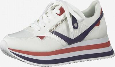 TAMARIS Nizke superge | mornarska / rjasto rdeča / bela barva, Prikaz izdelka