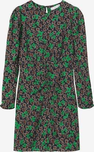 MANGO Robe 'FLOA' en marron / vert / noir, Vue avec produit