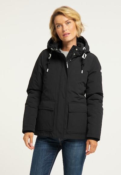ICEBOUND Winterjas in de kleur Zwart: Vooraanzicht