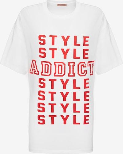 Grimelange T-Shirt 'MAYBE' in rot / weiß, Produktansicht