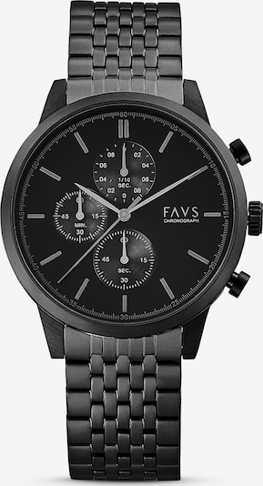 FAVS Uhr in schwarz, Produktansicht