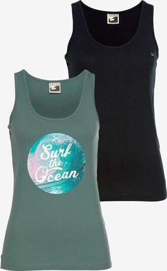 OCEAN SPORTSWEAR Ocean Sportswear Tanktop in grün / mischfarben / schwarz, Produktansicht