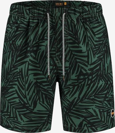 Shiwi Shorts de bain 'Mangrove' en vert foncé / noir, Vue avec produit