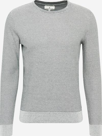TOM TAILOR Jersey en gris / antracita / blanco, Vista del producto