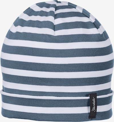 STERNTALER Bonnet en bleu-gris / blanc, Vue avec produit