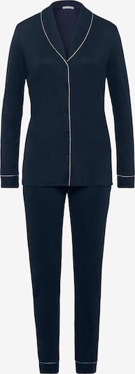 Hanro Pyjama ' Natural Comfort ' en bleu foncé, Vue avec produit
