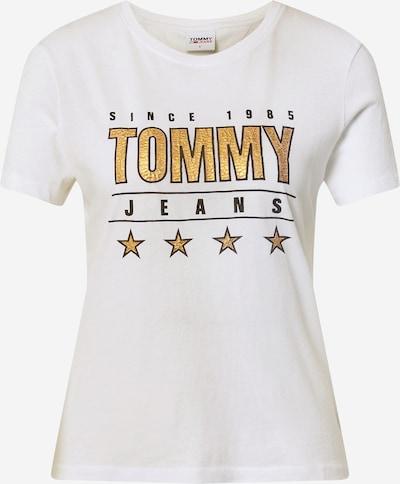Tommy Jeans Shirt in de kleur Goud / Zwart / Wit, Productweergave