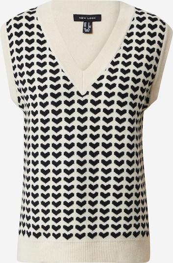 NEW LOOK Pullover in schwarz / naturweiß, Produktansicht