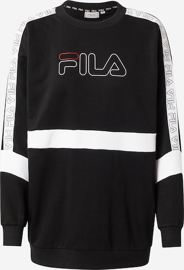 FILA Спортен блузон с качулка в черно / бяло, Преглед на продукта