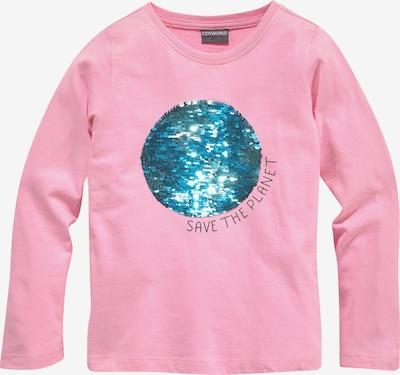 Kidsworld Shirt in pink / schwarz / silber, Produktansicht