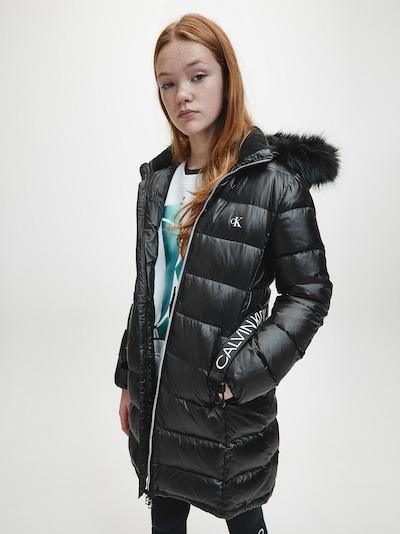 Calvin Klein Jeans Mantel must / valge: Eestvaade