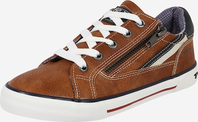 Sneaker TOM TAILOR pe bleumarin / maro coniac / alb, Vizualizare produs