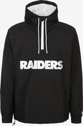 NEW ERA Jacke 'NFL Overlap Logo Las Vegas Raiders' in schwarz / weiß, Produktansicht