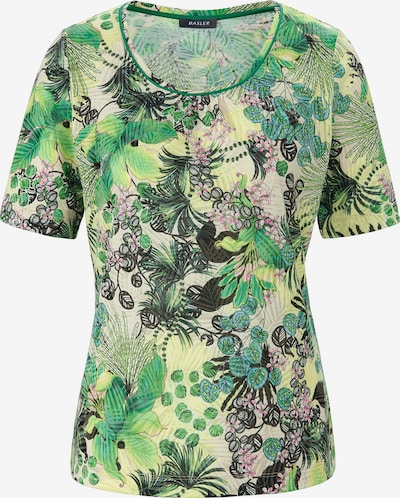 Basler T-Shirt mit exotischem Allover-Print in creme / hellgrün / dunkelgrün / rosa, Produktansicht