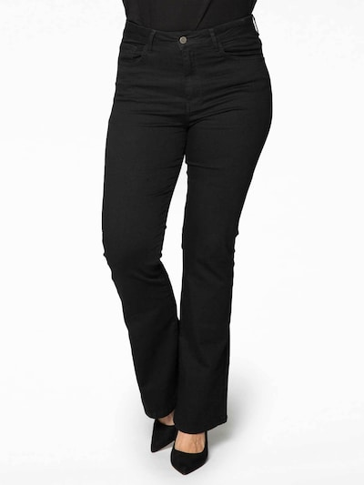 Yoek Jeans in de kleur Black denim, Modelweergave