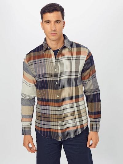 Banana Republic Shirt in Navy / Light grey / Lobster / Black, View model