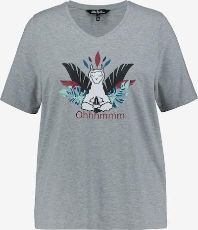 Ulla Popken Shirt in de kleur Lichtblauw / Lichtgrijs / Wit, Productweergave