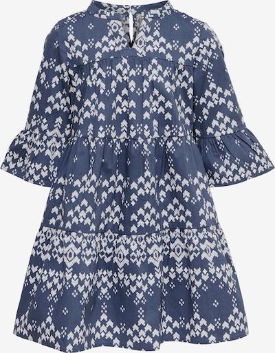 KIDS ONLY Kleid 'Alexia' in taubenblau / weiß, Produktansicht
