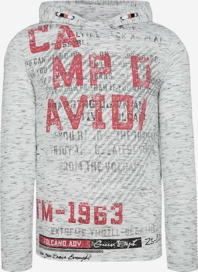 CAMP DAVID Tričko - šedá / šedý melír / červená, Produkt