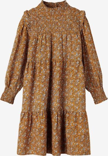 NAME IT Kleid 'Karin' in curry / schwarz / weiß, Produktansicht