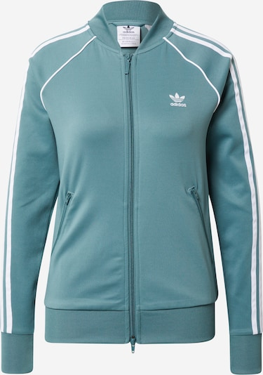 ADIDAS ORIGINALS Sweatvest in de kleur Jade groen / Wit, Productweergave