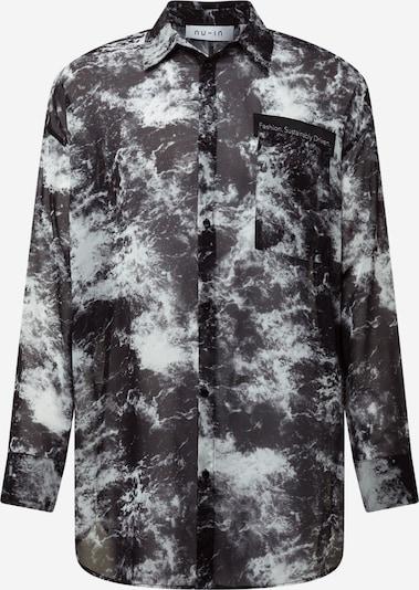 NU-IN Hemd in graumeliert / schwarz / weiß, Produktansicht