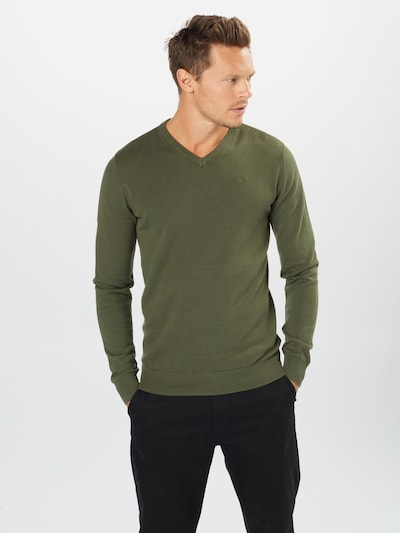 Petrol Industries Pullover in oliv: Frontalansicht