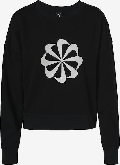 NIKE Sportsweatshirt in schwarz / weiß, Produktansicht
