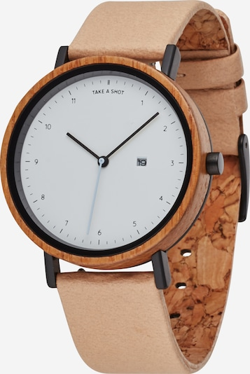 TAKE A SHOT Analog watch 'Amber' in beige / brown / white, Item view