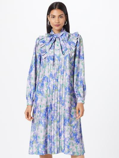 MADS NORGAARD COPENHAGEN Kleid 'Recy Poly Dandy' in blau / grün / lila, Modelansicht