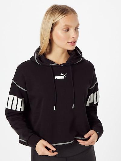 PUMA Sportsweatshirt 'Power' in schwarz / weiß: Frontalansicht