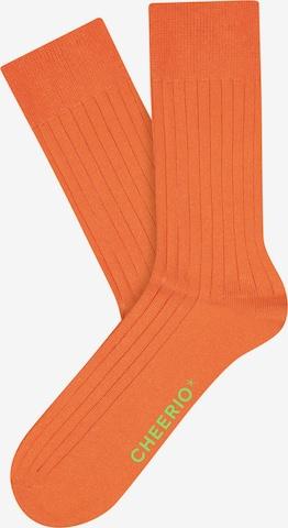 CHEERIO* Socks 'TOUGH GUY' in Orange
