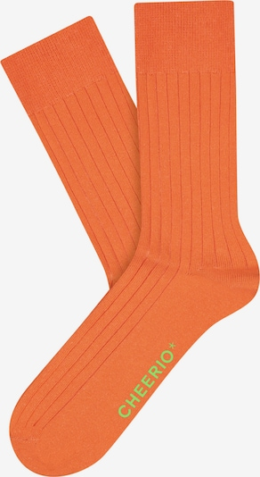 CHEERIO* Socken 'TOUGH GUY' in orange, Produktansicht